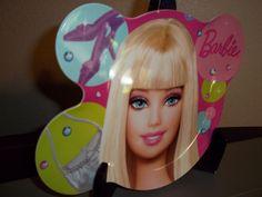 Barbie Plate Mattel Amscan Plastic Kids Dinner Ware