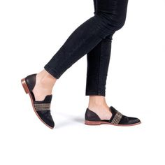 BLACKA modern cut out loafer in blackpony hair and modern calf leather.The perfect addition to any wardrobe with all-year wearability, this shoe stands the t