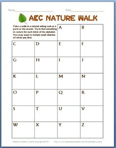 ABC Nature Walk - Perfect for Earth Day! - Classroom Freebies