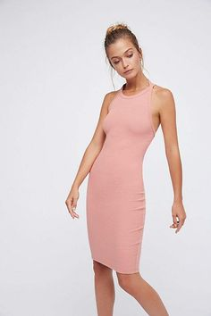 Fp Beach Stop and Stare Dress Fitted halter dress Available in Blush/Emerald Where to wear? Maybe ... • Night Out • Wedding Guest • Garden Party • Date Look I'd love to wear this with of sparkly accessories. A lot of them! How would you wear it?