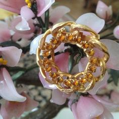 Vintage rhinestone broach Gorgeous pin Jewelry