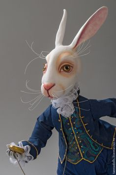 Fair of Masters - handmade. Buy In Wonderland. Rabbit Art, Rabbit Toys, White Rabbits, Lewis Carroll, Paperclay, Cute Art, Art Dolls, Folk Art, Wonderland