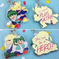 Boku no Hero Academia: Deku + All Might Double-sided Acrylic Keychain Charms My Hero Academia Merchandise, My Hero Academia 2, Anime Merchandise, Acrylic Charms, Acrylic Keychains, Clear Acrylic, Otaku, Kawaii Jewelry, Anime Figurines
