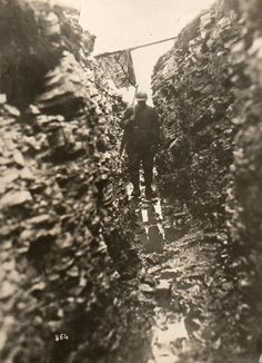A soldier in the trenches. France, 1918. Western Newspaper Union