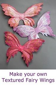 Doll costume tutorials (Some can be up sized for children/adults and furkids): this pic is of wings to make