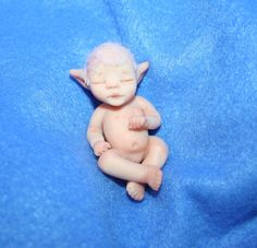 OOAK Baby Fairy Elf Pixie Polymer Clay Art Sculpt Miniature Figurine Sweet Cheek | eBay