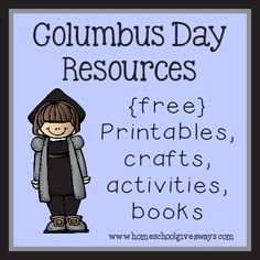 FREE Columbus Day Resources, Printables, Crafts, Activities & Books