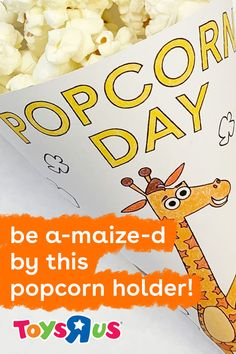 Pop this fun DIY kids activity out on the next movie night or to celebrate National Popcorn Day. It's super easy and creates a popcorn holder so they can munch through their favorite movies without reachin' into a bowl!