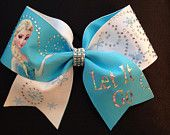 Frozen Inspired SET of 3 Cheer Bows por PixieDustPaiges en Etsy