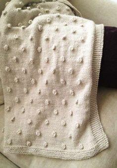 Mantas de ganchillo: Los diseños más originales - Diseño de manta de ganchillo en color crema