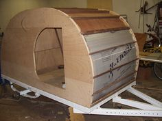 home-constructed tear drop camper!