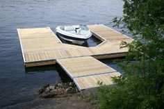 Master Boat Builder with 31 Years of Experience Finally Releases Archive Of 518 Illustrated, Step-By-Step Boat Plans Floating Picnic Table, Building A Dock, Floating Boat Docks, Boat Plans, Deck Design, Portfolio Design, Outdoor, Dock Ideas, Pontoons