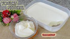 YOGURT NATURAL con sólo 2 ingredientes, saludable y súper fácil