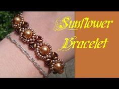 Beginners Bracelet Sunflower Tutorial *(3)* Beading Tutorial by HoneyBeads1 - YouTube