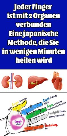 Each finger is connected to two organs: a Japanese me .- Jeder Finger ist mit 2 Organen verbunden: Eine japanische Methode Each finger is connected to two organs: a Japanese method that will cure you in minutes - Home Exercise Program, Workout Programs, Health And Beauty, Health And Wellness, Health Fitness, Natural Health Remedies, Home Remedies, Affirmations, Daily Health Tips