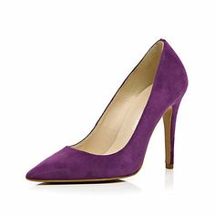 Purple pointed pumps - heels - shoes / boots - women