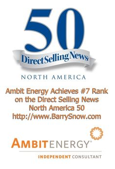 2015 DSN North America 50 List — Direct Selling News — Ambit Energy achieves #7 Rank #dsnNA50  .:. http://directsellingnews.com/index.php/view/2015_dsn_north_america_50_list
