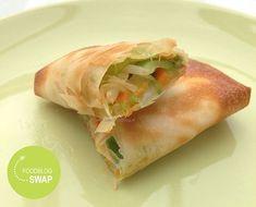 Vegetarische Loempia s Spring Rolls, Food Blogs, Fresh Rolls, Chicken Wings, Bbq, Vegetarian, Snacks, Healthy, Ethnic Recipes