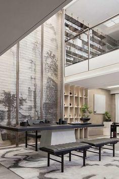 90 Best Home Decor Ideas Modern Chinese Interior, Asian Interior, Japanese Interior Design, Luxury Interior Design, Interior Design Inspiration, Lobby Design, Design Hotel, House Design, Bricolage