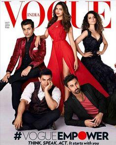 Bollywood stars like Deepika Padukone, Alia Bhatt, Ranbir Kapoor, Ranveer Singh, Aamir Khan, Karan Johar and Kangana Ranaut have featured on the cover of Vogue India for their October issue. They looked ravishing!