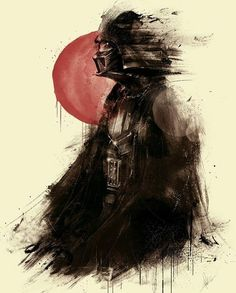 Lord Vader Star Wars Art by Marie Bergeron Star Wars Decor, Star Wars Art, Vader Star Wars, Darth Vader, Luke Skywalker, Chewbacca, Fiction Movies, Amazing Art, Awesome