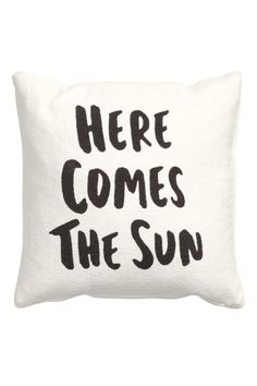 Cushion cover with text print: Cushion cover in a cotton weave with a text print and concealed zip.