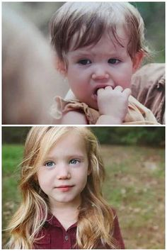 Judith S4...THEN AND NOW>>> Now I know why they had to change the baby.