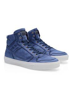 #HOGANREBEL Men's Spring - Summer 2013 #collection: worn effect nubuck for the High-Top basket #sneakers R206.