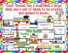 http://www.teacherspayteachers.com/Product/Library-Book-Labels-286192