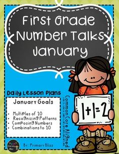 Do you want to increase student-to-student mathematical discourse and students' abilities to be flexible mathematical thinkers? Number talks is the perfect way to achieve that goal. With this unit you will receive a month's worth of highly engaging number talks specifically geared for January of first grade.