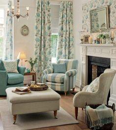 déco de style anglais et intérieur de salon