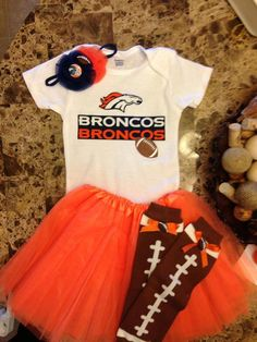 Denver Broncos complete football outfit by AngelKissBoutique, $50.00