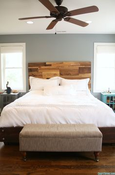 Building a Salvaged Wood Headboard • Craft Thyme