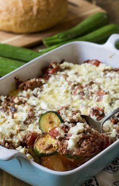 Zucchini Moussaka- an easy, delicious and healthy meal. #lowcarb