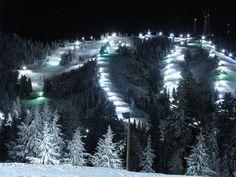 Bogus Basin,  Boise, Idaho night light parade http://www.visitidaho.org/attraction/winter-resorts/bogus-basin-mountain-recreation-area/  #bogusbasin #visitidaho #ski #nightski
