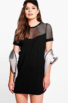 Sarah Mesh T-Shirt Dress
