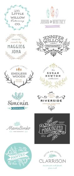 115 Hand-Sketched Vectors + 12 Logo Templates - only $10! - MightyDeals
