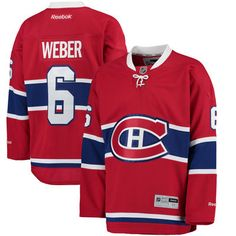 Men's Montreal Canadiens Shea Weber Reebok Red Home Premier Player Jersey