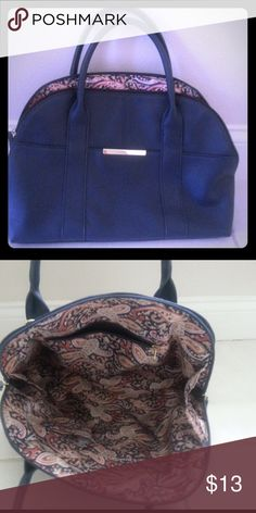 Navy blue purse. NWOT FREE gift included! Brand new navy blue purse. Very light, nice inside. Fast ship. FREE gift included. Bags Satchels