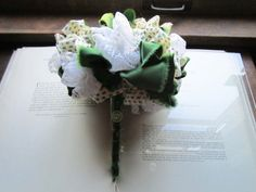 Vintage Fabric Wedding Bouquet by bedouin on Etsy