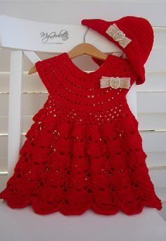 Wedding Dress for Children, Lace Flower Girl, Baby Girl Dress, Crochet Baby Christening Dress, Flower Girl, Baptismal Dress, Baby Girl WEDDING ON THE GARDEN When Margheritas parents ordered this dress, they needed something rustic and practical for their two years olds girl. The wedding