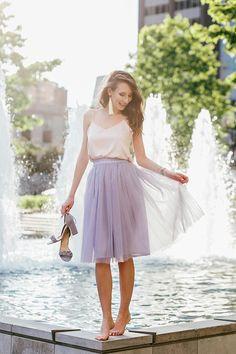 Skirts For Women – My WordPress Website Diy Tulle Skirt, Chiffon Skirt, Tulle Dress, Dress Skirt, Tulle Skirts, Purple Tutu, Lilac Dress, Midi Skirt Casual, Casual Skirts