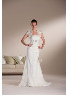 ELEGANT SHEATH STRAPLESS WEDDING DRESS LACE BRIDESMAID PARTY BALL EVENING COCKTAIL GOWN IVORY WHITE FORMAL PROM