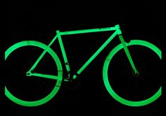 Saw this idea in this article: Best tech gifts for grads. But the real point is to paint your bike with glow in the dark paint ... Safety at night! Keep the headlights too though :)