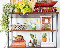 bookshelf to decorate vertically