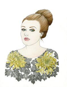 Adele Portrait, 11 x 14. Print by rachelfujii, $30