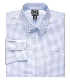 Traveler Tailored Fit Point Collar Dress Shirt