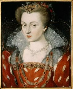 circa of Lorraine.Jean Rabel on cm. A study to this portrait painting (crayon) preserved in the the National Library of France(Bibliothèque nationale de France, Estampes, Rés. Lorraine, Jean Fouquet, Adele, Mode Renaissance, Persona, 16th Century Fashion, Tudor Dress, Royal Monarchy, Famous Historical Figures