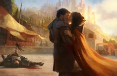 A happy ending... Oberyn Martell with Ellaria Sand ~ Fan Art