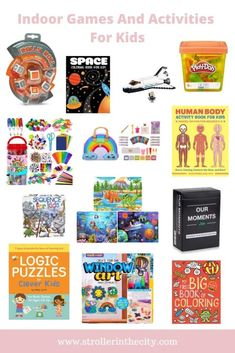 Indoor games and activities to keep kids busy. Craft Activities For Kids, Book Activities, Crafts For Kids, Fun Crafts, Family Game Night, All Family, Family Life, Space Games For Kids, Human Body Activities